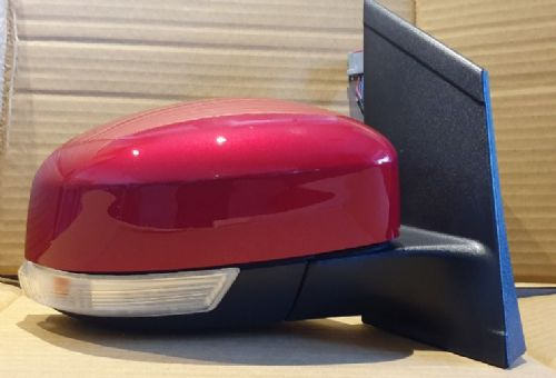 FORD FOCUS 08-2011 WING MIRROR COMPLETE ELEC LH OR RH SIDE IN CANDY RED